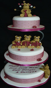 1st Birthday Cake 3 Tier