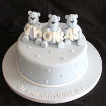 Christening cake 1 Tier Teddy Bear