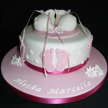 Christening Cake 1 Tier Booties