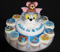Tom and Jerry cupcake