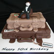 Leather Suitcases Cake
