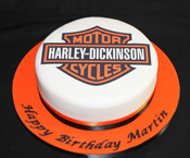 Edible photo harley davidson cake