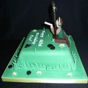 Clay Pigeon Shooting Cake