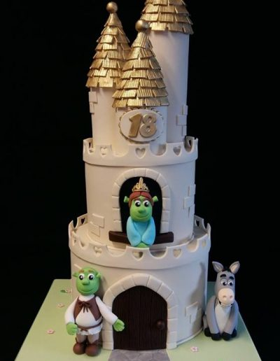 Castle birthday cake for Beth's 18th