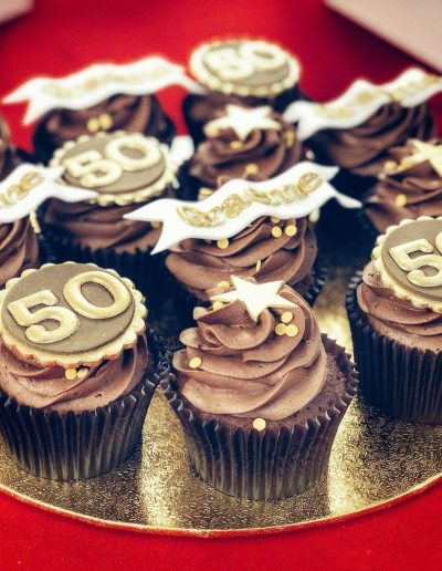 50th Birthday Cup cakes