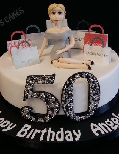A cake for a lady who loves to shop