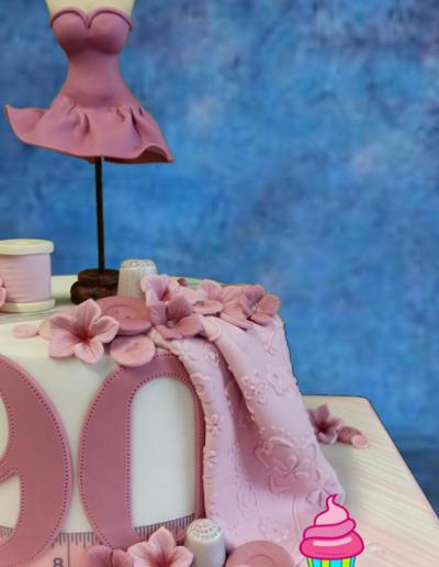90th Dressmaking Cake