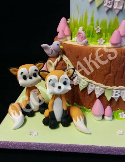 Cute foxes Cake Topper