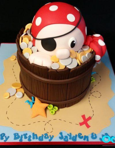 Pirate birthday cake for Jayden & Jacob