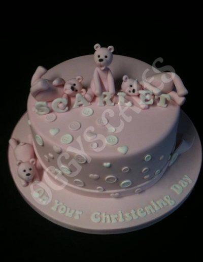 Scarlett Christening Cake