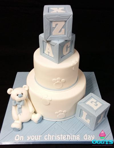 Building Blocks Christening Cake