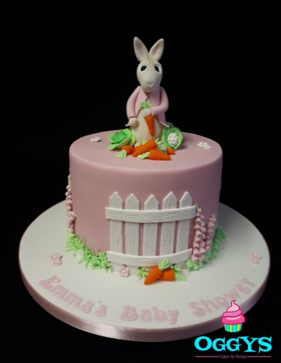 Flopsy Rabbit Baby Shower Cake