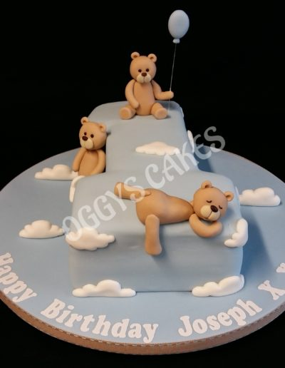 Number 1 Teddy Cake