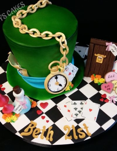 Alice In Wonderland Mad Hatter Cake