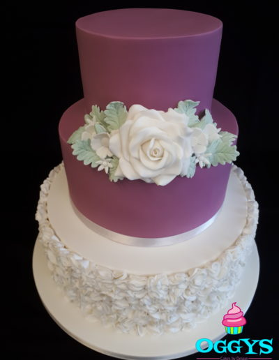 Ruffles & Roses Wedding Cake