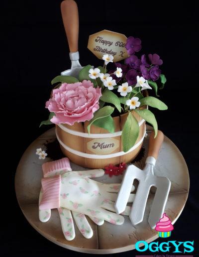 Gardening Barrel Cake