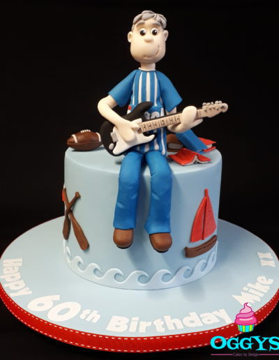 Guitar , Sailing , Rugby Cake