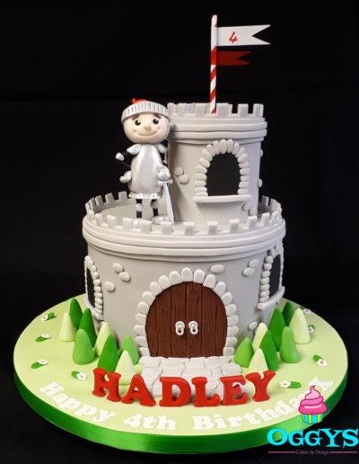 Castle & Knight Cake